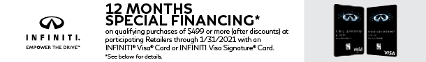 INFINITI Credit offers. Tap for details.